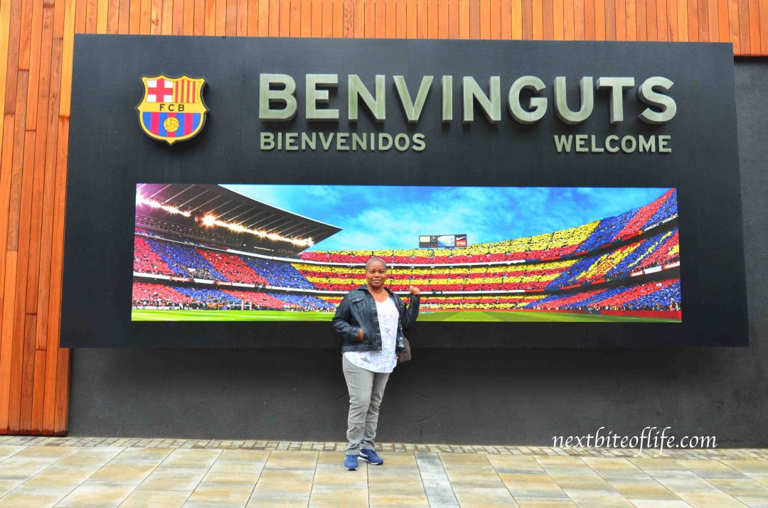 barcelona football entrance