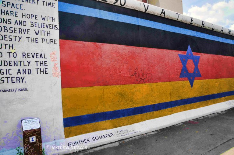 east side gallery berlin wall jewish star
