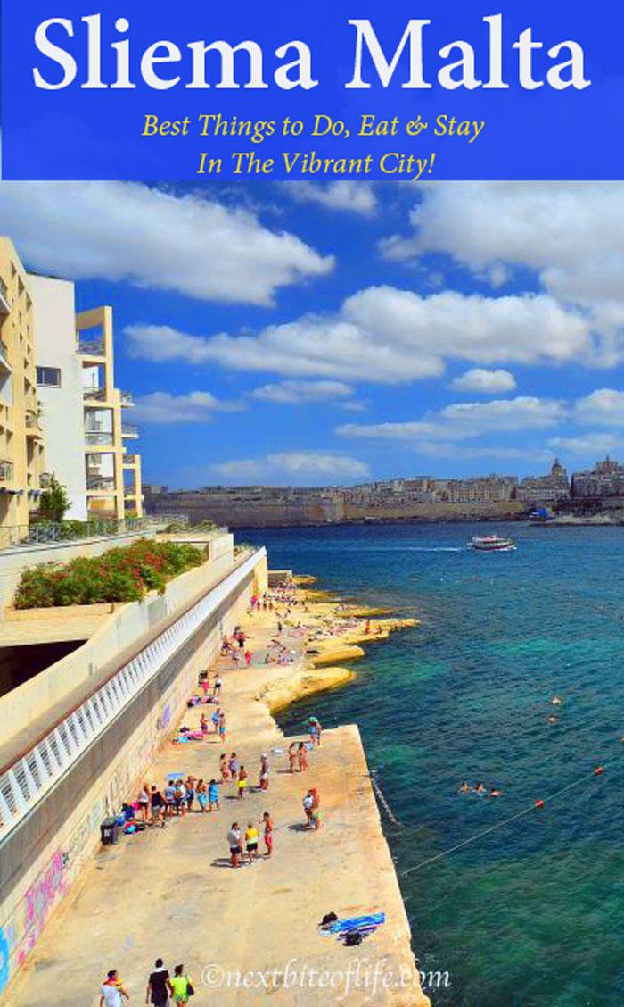 sliema malta pinterest rocky beach