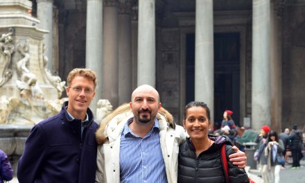 Piazza Navona, Rome & meeting Jed