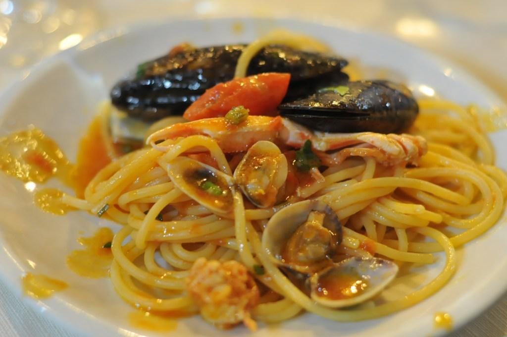 seafood spaghetti ristorante pipette rome
