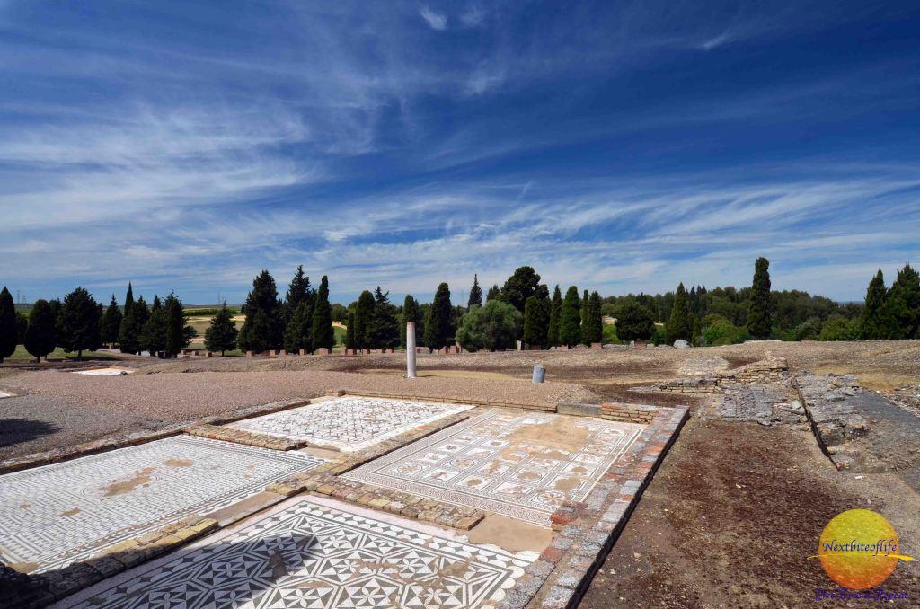 Amazing detailed tile work tat italica ruins