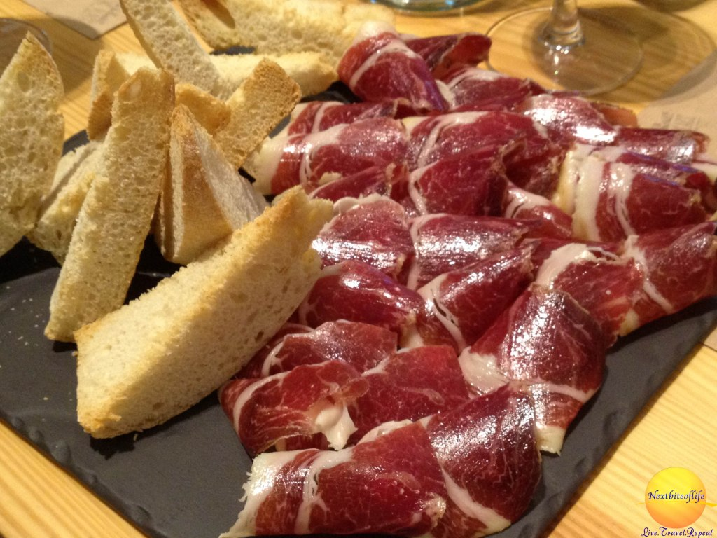 jamon and pan in poblenous barcelona