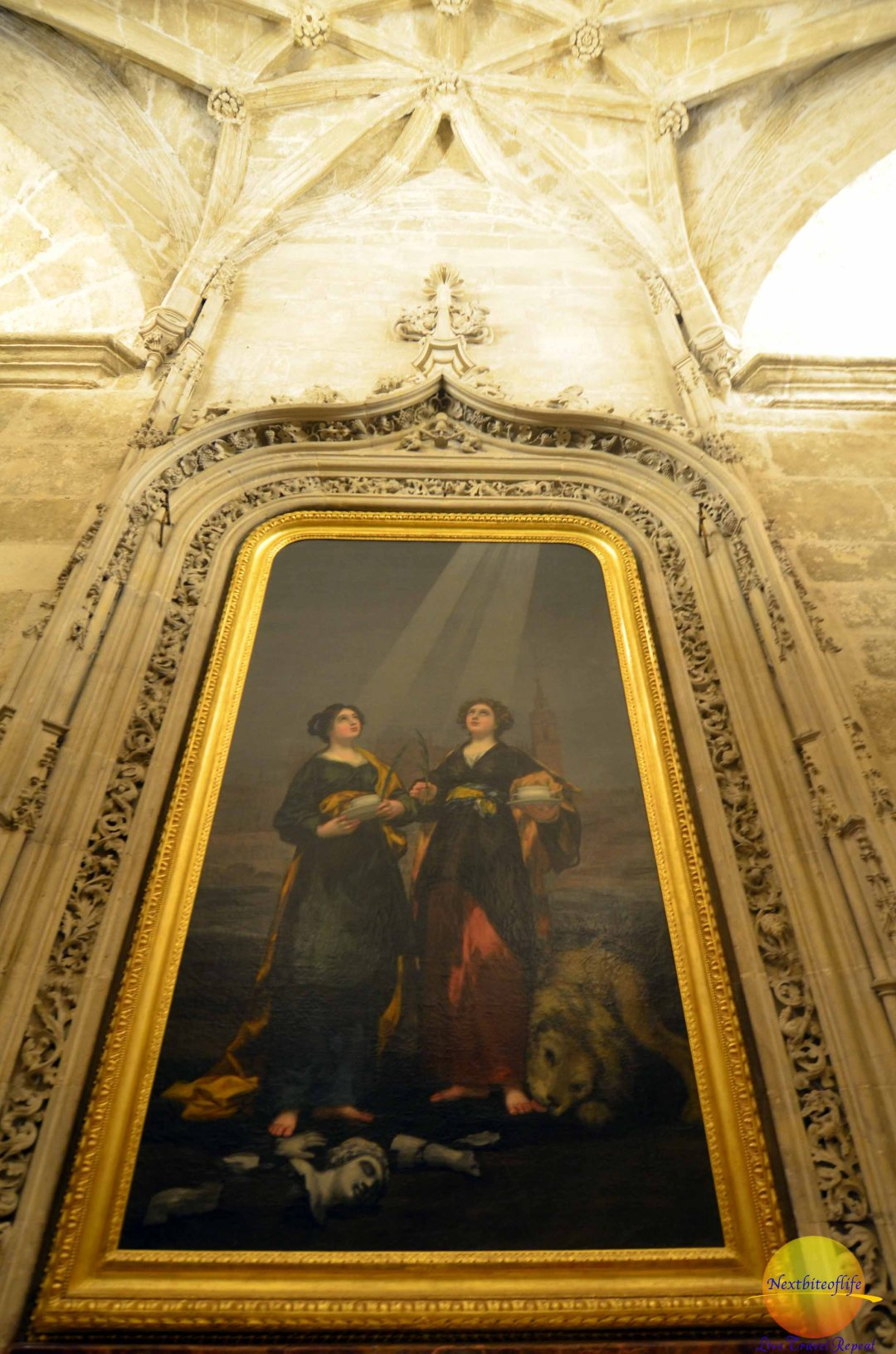 religious painting at seville cathedral