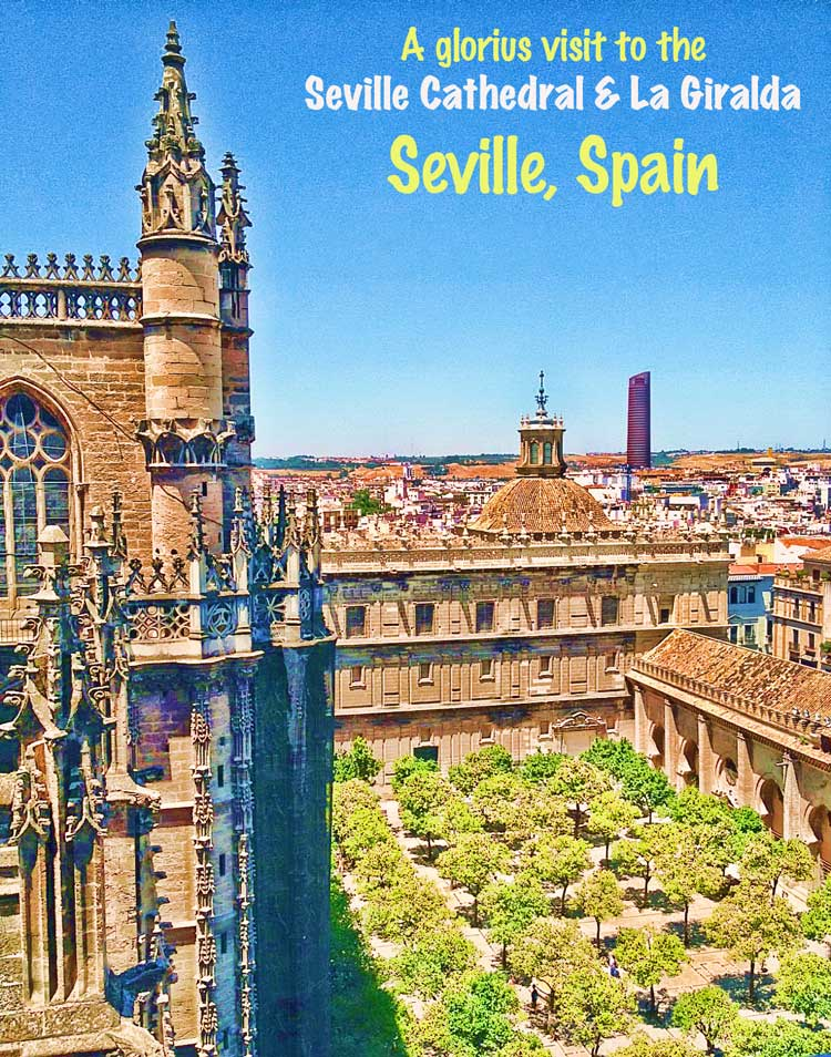 Seville Cathedral and La Giralda visit #seville #spain #sevillethingstosee #cathedral #catedralsevilla #lagiraldaseville #giralda #belltower #sevilleguide #patiooforangesseville #spain #andalucia