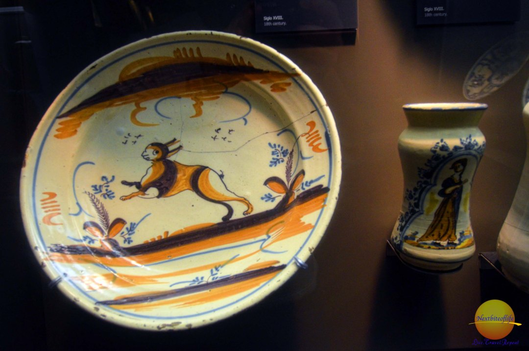 plate at royal alcazar seville