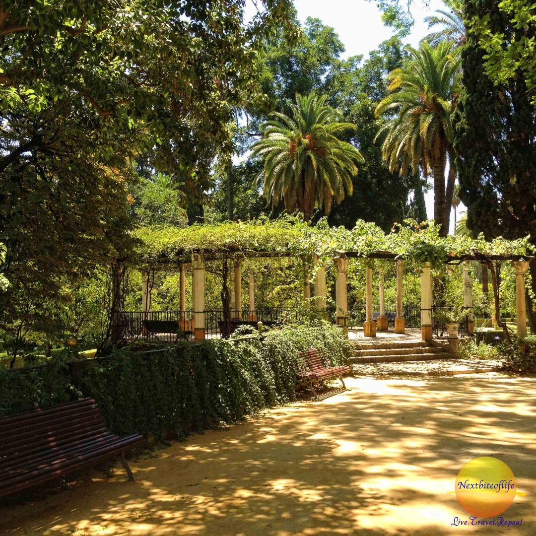 alcazar garden pergola