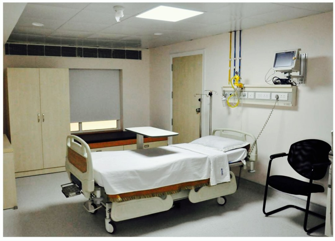 Medical tourism India Artemis hospital isolation room