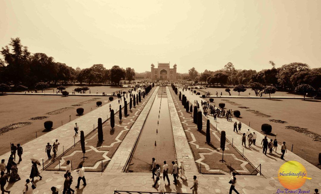 taj mahal agra india grand view