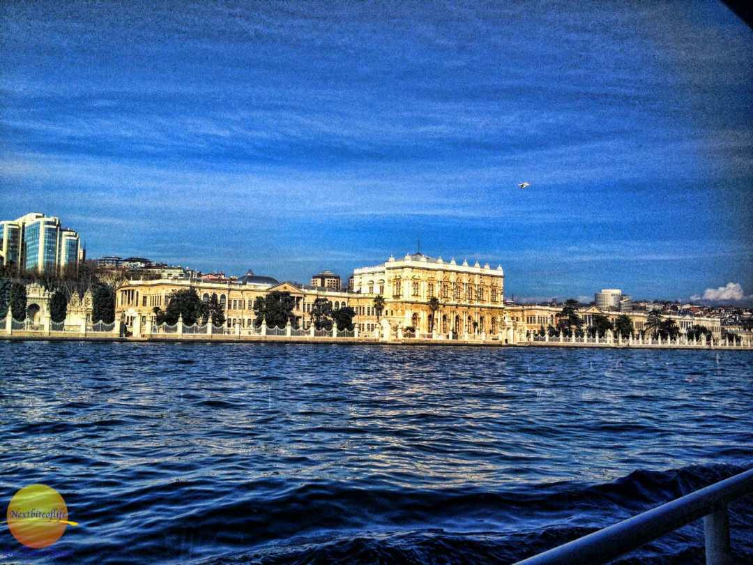 View of Istanbul from the boat. I think it is the Palace