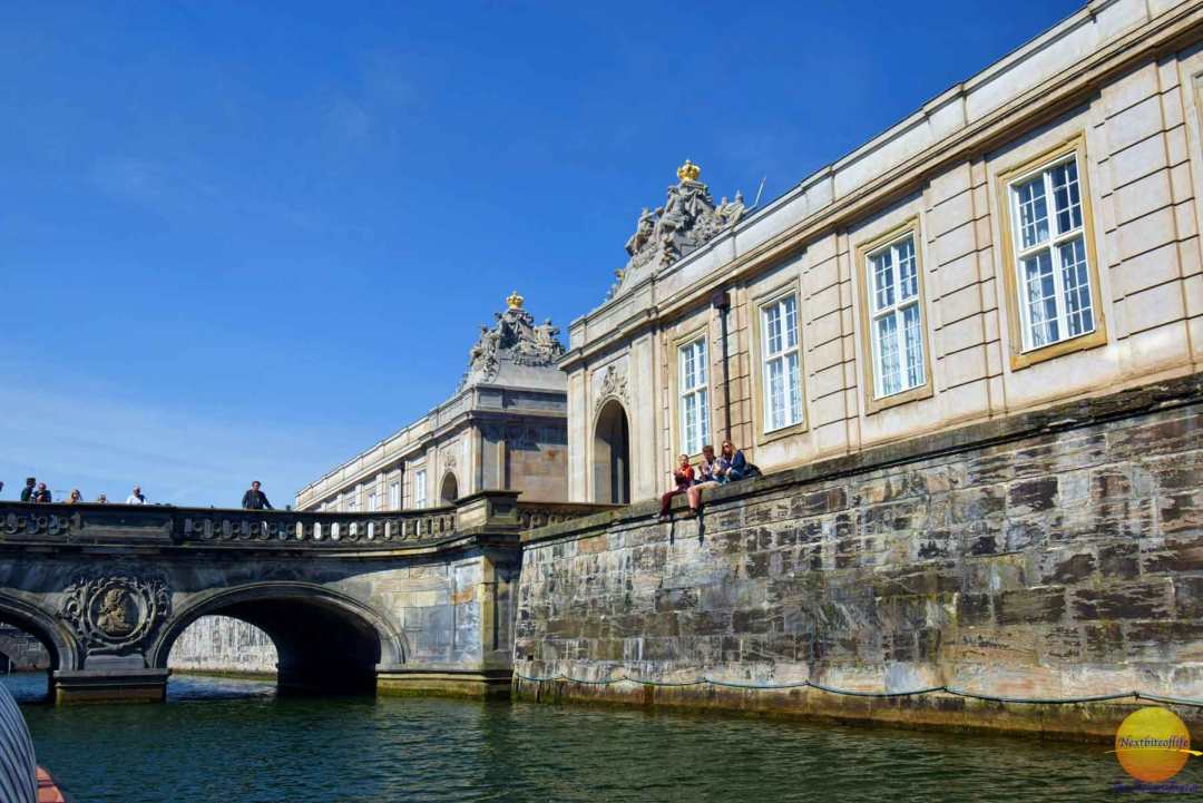 Little part of the old Christianborg palace that didn't burn