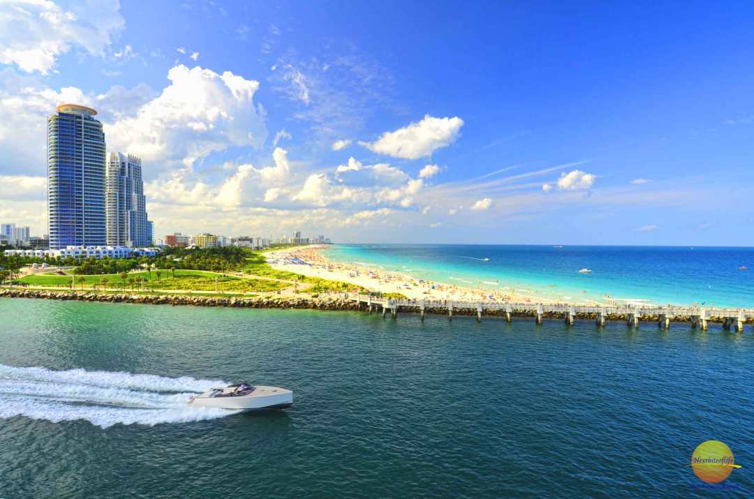 impressive miami florida highlights beach from above