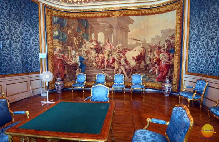 tapestry in royal palace sweden.