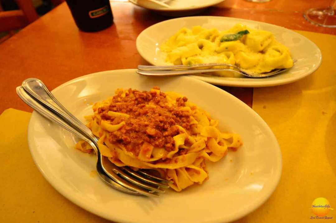 Tagiatelle with bolognese sauce
