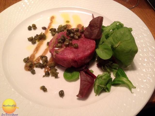 experience djuronaset hotel beef tartar