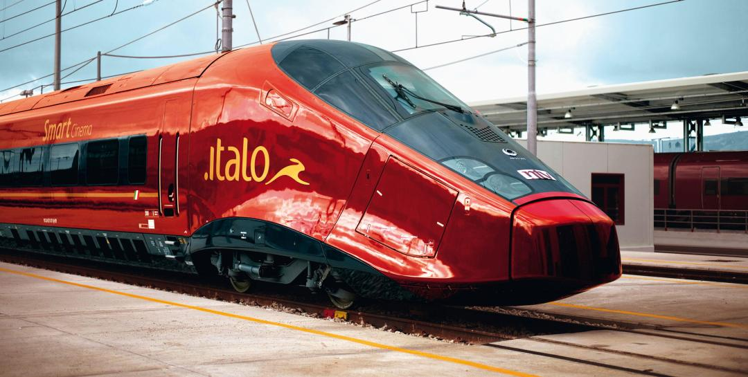 Sleek italo train