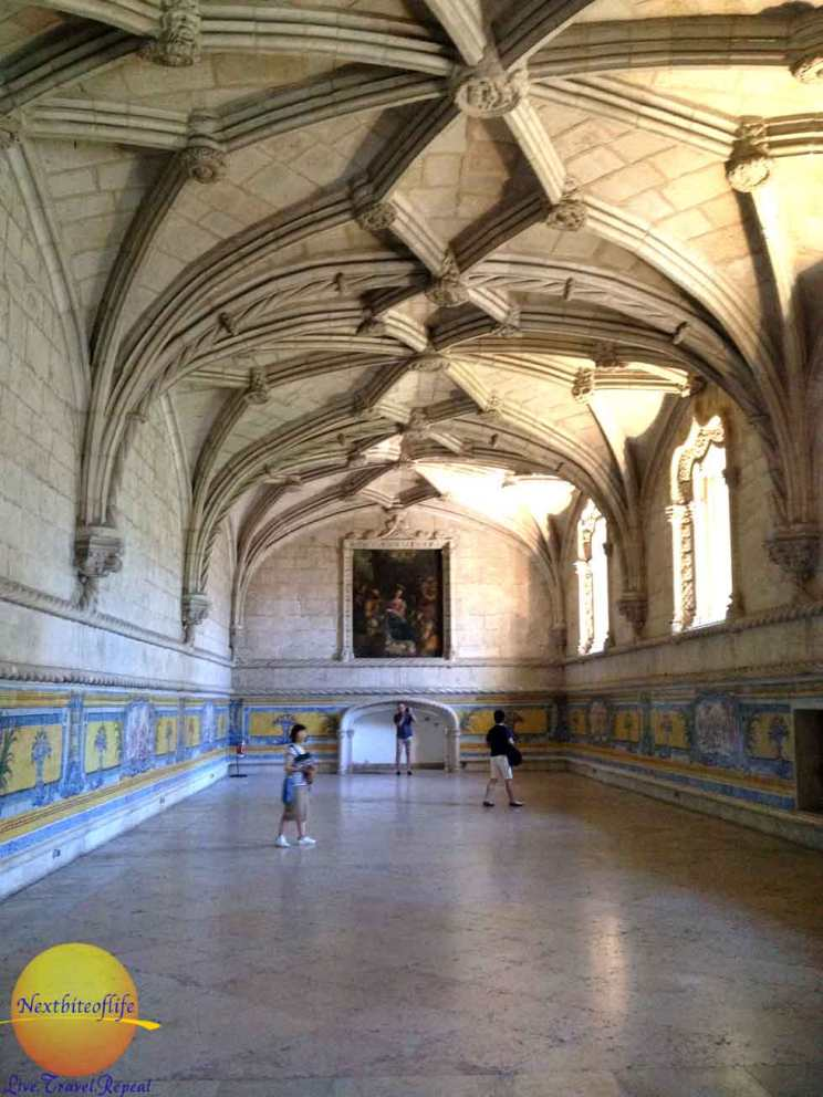 jeronimos monastery belem portugal refectory