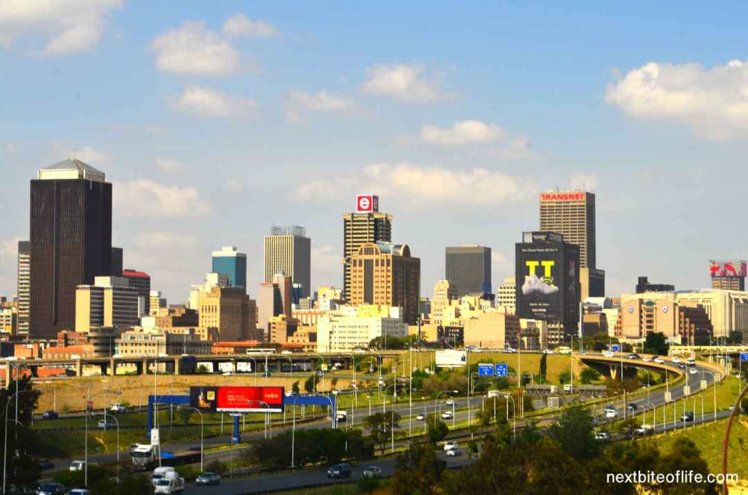 postcard from johannesburg south africa skyline