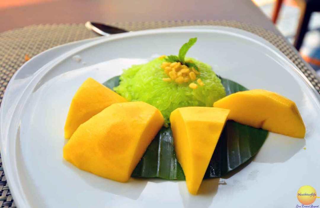 chatrium hotel riverside sticky mango dessert