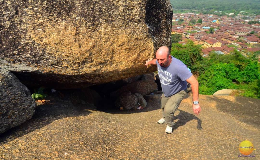 climbing olumo rock abeokuta