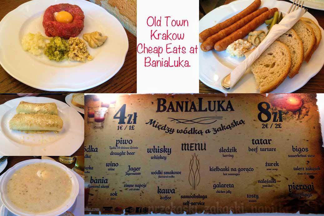 BaniaLuka Krakow menu and food
