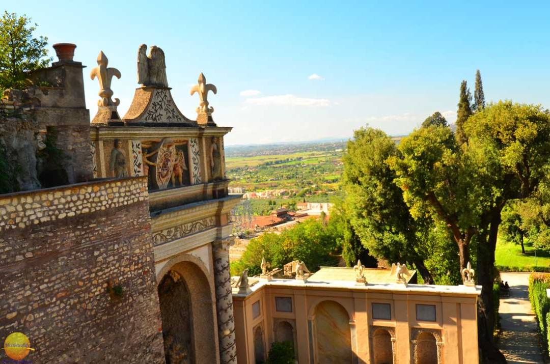 view from villa d'este