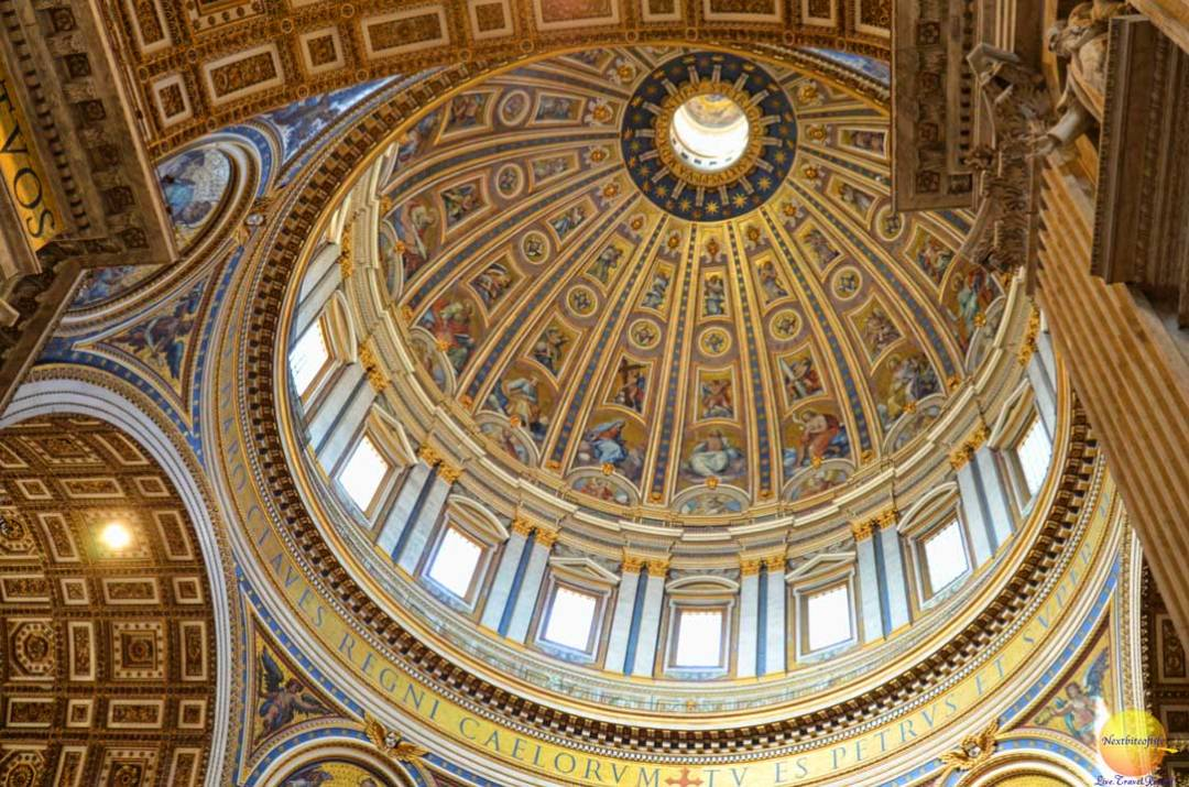 dome ceiling st peters rome