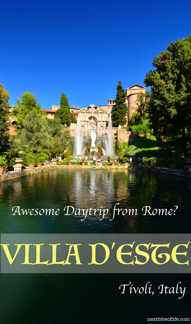 day trip from rome to tivoli villa d'este pinterest