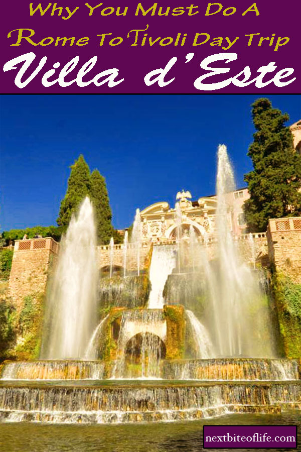 Day trip from Rome to Tivoli and Villa d'Este #tivoli #rome #romedaytrip #italy #romeguide