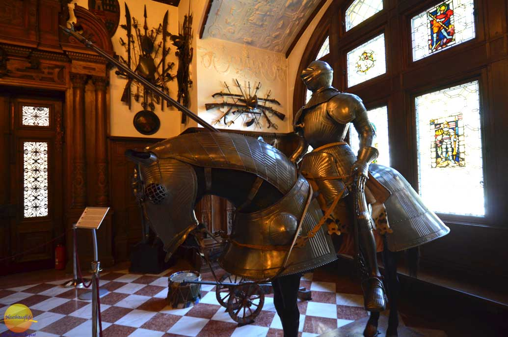 peles castle weapons room