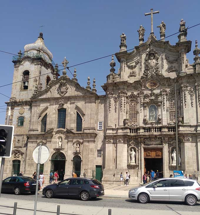 carmo church with convent and little house in between porto portugal