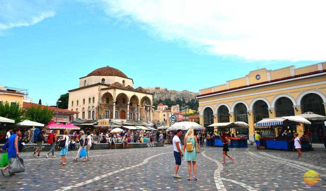 monastiraki square athens greece