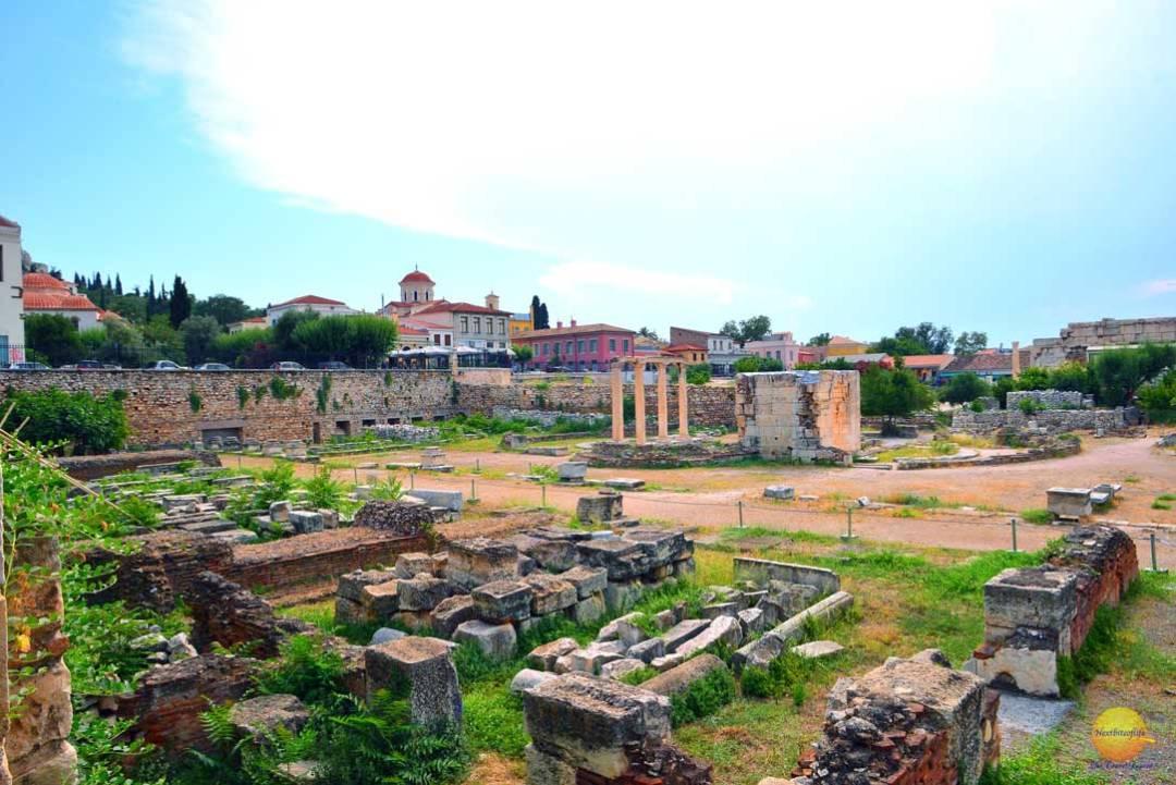 roman agora ruins athens greece