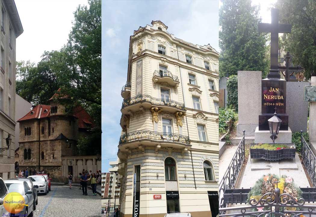 random images from Prague including Jewish qarter