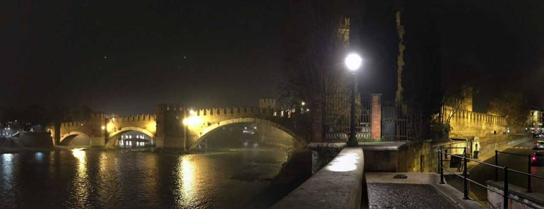 Adige bridge and Castelvecchio view Verona