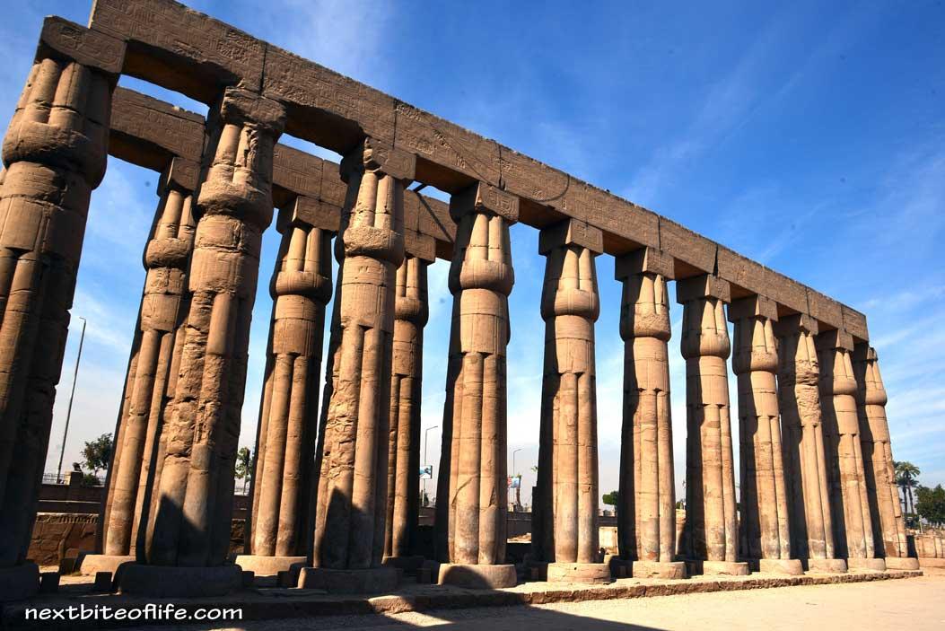 columns in Karnak temple Luxor