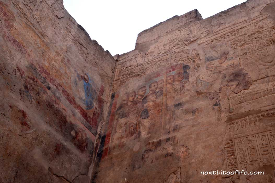 christian like painting at Luxor temple