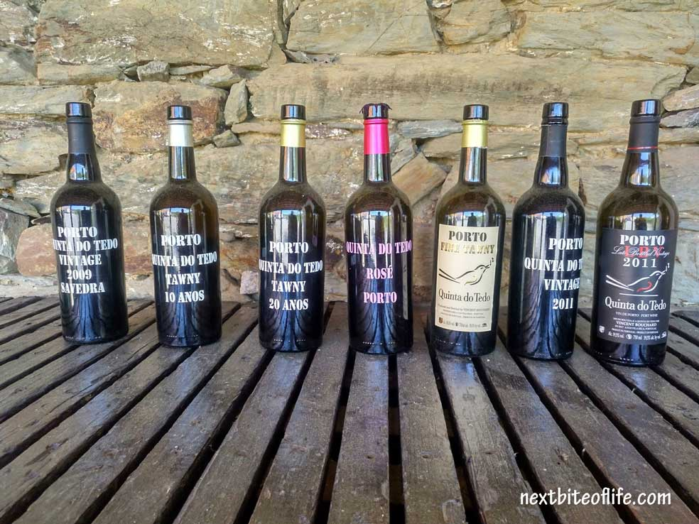 bottles of port wine in the Douro Valley Portugal