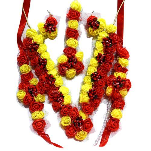 NextBuye Bridal floral jewellery set for haldi ceremony 1