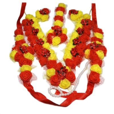 NextBuye Bridal floral jewellery set for haldi ceremony 2
