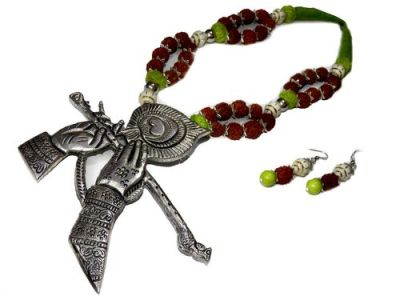 NextBuye Lord Krishna Flute Playing Designed Necklace 2