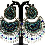 NextBuye Ethnic Chandbali Earrings [Blue] 2