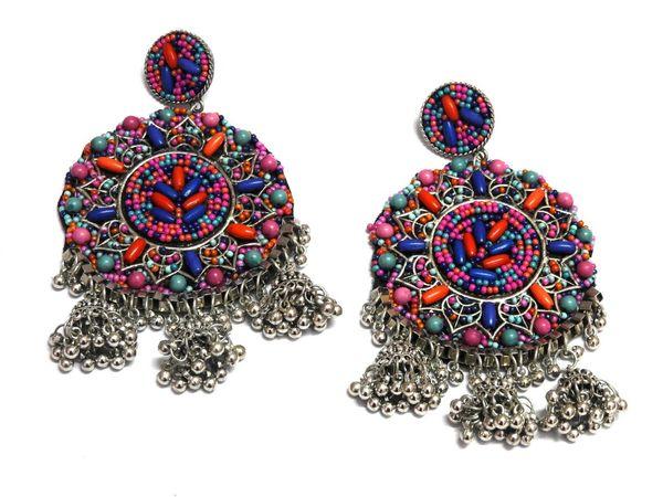 Nextbuye Indian Rajasthani Traditional Earrings [Round] 1