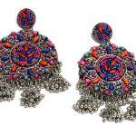 Nextbuye Indian Rajasthani Traditional Earrings [Round] 2