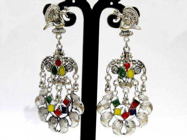 NextBuye Peacock Dangler Earrings for Women 1