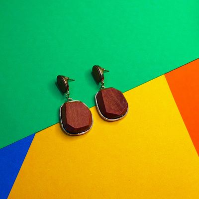 Nextbuye Wooden Handcrafted Earrings