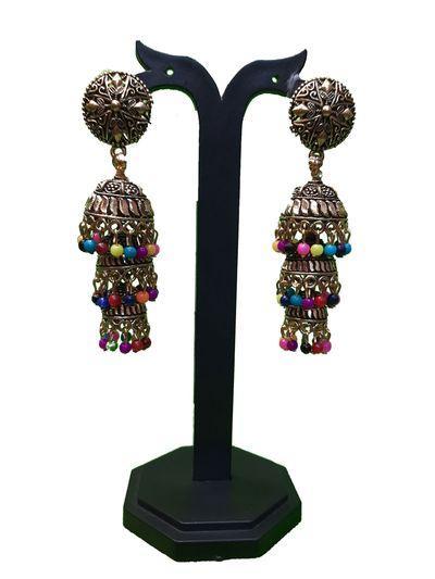 NextBuye Three Layered Jhumka Earrings