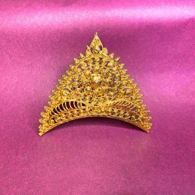 NextBuye Gold Plated Bridal Wedding Tiara Mukut 1