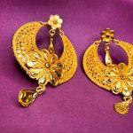 NextBuye Gold Plated Kanbala Design Earrings