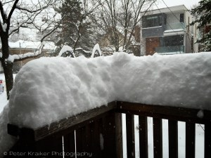 Today's snowfall